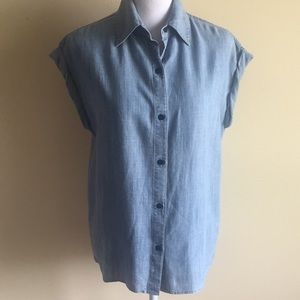 Alice + Olivia Oren Chambray Denim Shirt